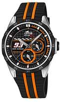 Lotus Marc Marquez Collection 2016 Men's Quartz Watch with Black Dial Analogue Display and Black Rubber Strap 18259/1
