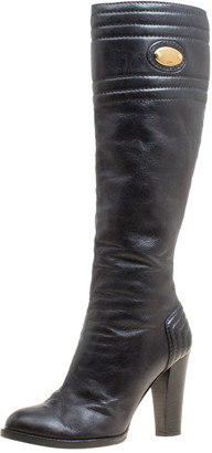 Chloé Black Leather Knee High Boots Size 39