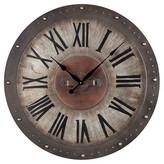 Lazy Susan Metal Roman Numeral Outdoor Wall Clock