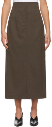 Low Classic Brown H-Line Skirt