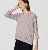 LOFT Striped 3/4 Sleeve Tee