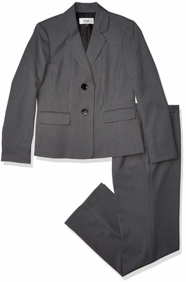 Le Suit LeSuit Women's 2 Button Notch Collar PIN DOT Pant Suit