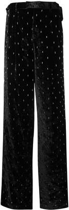 ATTICO embellished wide-leg trousers