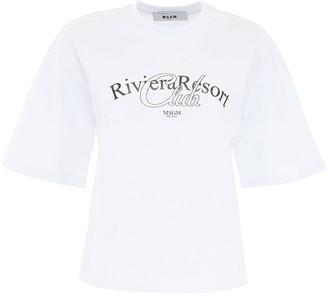 MSGM Graphic Printed T-Shirt