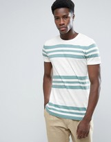 Esprit Crew Neck T-shirt With Stripes
