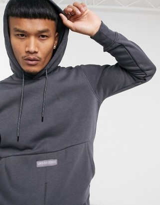 Jack and Jones Core soft washed hoodie in dark gray