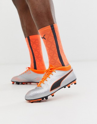 Puma ONE 4 synthetic soccer boots-Orange