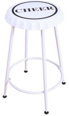 Williston Forge Brandes 2 Piece Metal Counter Height Bar Stool Set Color: White
