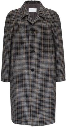 Maison Margiela Wool Coat With Check Pattern