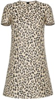Valentino leopard print mini dress
