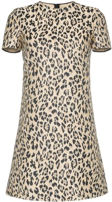 Valentino Leopard Print Mini Dress