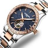 Carnival Women's Automatic Mechanical Female Watch Personality Sparkling Stars in the Blue Sky Skeleton Dial