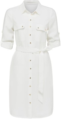 Forever New Anna Utility Midi Shirt Dress - Porcelain - 10