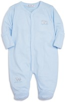 Kissy Kissy Boys' Micro-Striped Embroidered Footie