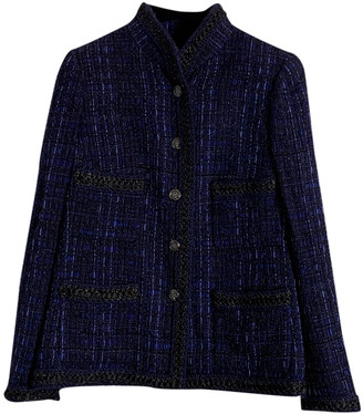 Chanel Blue Tweed Jackets