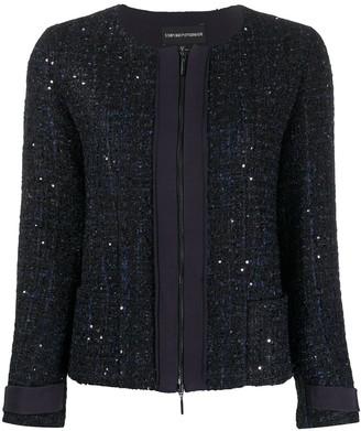 Emporio Armani Glitter Tweed Zip Jacket