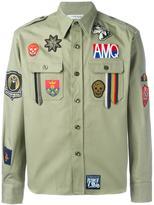 Alexander McQueen patch detailed shirt - men - Cotton/Polyester/Viscose - 15 1/2