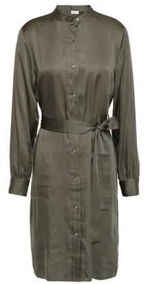 Filippa K Belted Satin Shirt Dress