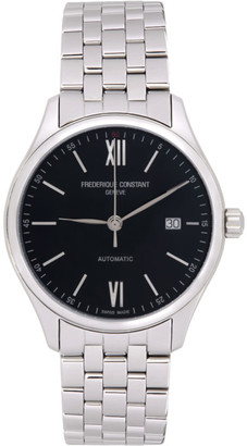 Frederique Constant Silver and Black Classics Index Automatic Watch