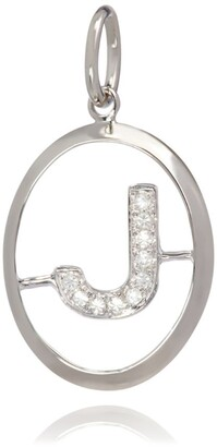 Annoushka White Gold And Diamond J Pendant