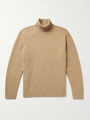 Club Monaco Cotton-Blend Boucle Rollneck Sweater - Men - Brown