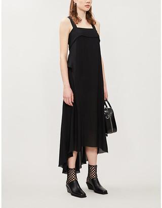 Isabel Benenato Asymmetric silk-crepe midi dress