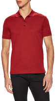 Lanvin Solid Spread Collar Pique Polo Shirt