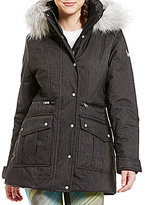 Spyder Arctyc Removable Hood with Faux-Fur Trim Ski Jacket