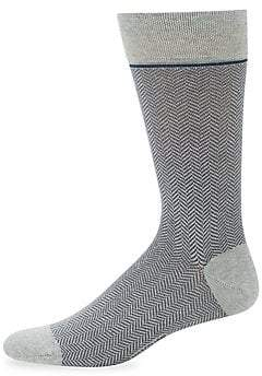 Marcoliani Milano Men's Knit Two Tone Socks