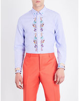 Paul Smith Paisley-embroidered slim-fit cotton shirt