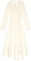 Zimmermann Belle Swiss-dot and lace silk midi dress