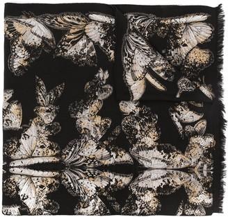 Alexander McQueen Butterfly Pattern Scarf