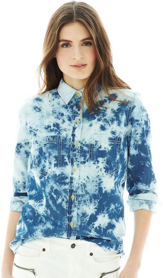 Joe Fresh Tie-Dyed Denim Shirt