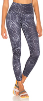 Beyond Yoga Lux Print High Waisted Legging in Navy. - size L (also in M,S,XS)