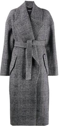 Rochas Houndstooth-Print Long Coat