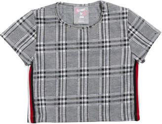 Flowers by Zoe Girl's Plaid Short-Sleeve Cropped Top, Size S-XL
