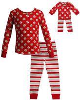 Dollie & Me Girls 4-14 Holiday Swirls & Stripes Pajama Set