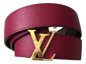 Louis Vuitton Initiales Burgundy Leather Belts
