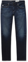 AG Jeans Tellis Slim-fit Distressed Stretch-denim Jeans - Dark denim