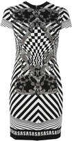 Versus Optical illusion logo band dress - women - Polyamide/Polyester/Spandex/Elastane/Viscose - 40