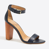 J.Crew Factory Leather chunky-heel sandals
