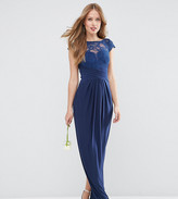 Asos Tall Wedding Lace Top Pleated Maxi Dress