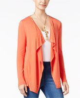 Thalia Sodi Grommet-Trim Open-Front Draped Cardigan, Only at Macy's