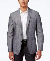 INC International Concepts Men's Slim-Fit Striped Linen Blazer, Created for Macy's