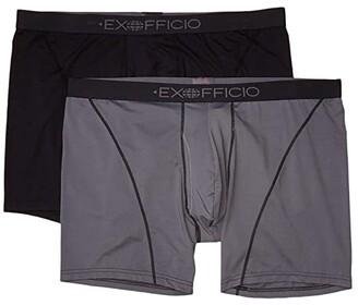 Exofficio Give-N-Go(r) Sport 2.0 Boxer Brief 6 2-Pack (Black/Steel Onyx) Men's Underwear