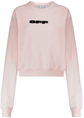 Off-White Bold logo cotton sweatshirt