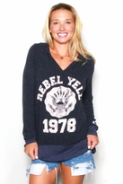 Rebel Yell Hooded Lounger in Navy