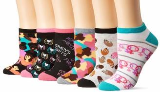 K. Bell Socks K. Bell Women's 6 Pack Novelty No Show Low Cut Socks