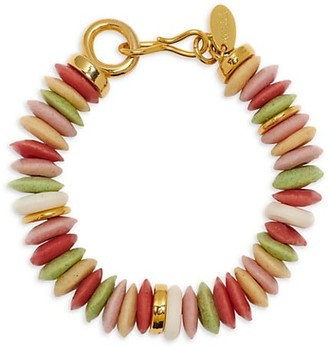 Lizzie Fortunato Candy Reycled Glass & Bone Beaded Bracelet