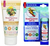 Badger SPF 30 Sunscreen 2.9 Oz & SPF 35 Sunscreen Stick